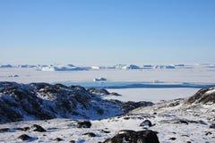 Frozen Sea and Arctic Tundra, Greenland Royalty Free Stock Photos