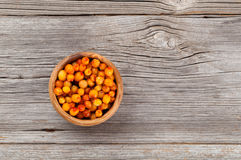 Frozen Sea-buckthorn berries Stock Images