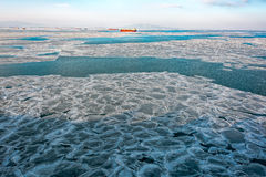 Frozen sea ice pattern Stock Image