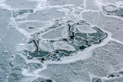 Frozen sea ice pattern Stock Photos