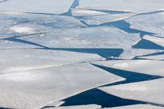 Frozen sea with pattern of ice floes. Frozen sea with pattern of big ice floes Stock Images