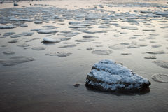 Frozen sea of Qingdao Stock Photos