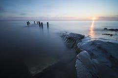 Frozen sea shore Stock Photography