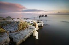 Frozen sea shore Royalty Free Stock Photography