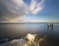 Frozen sea shore Stock Photo