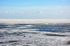 Frozen sea shore Royalty Free Stock Image