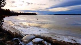 Frozen sea. At vaasa coast Stock Images