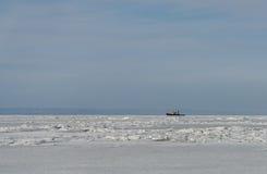Frozen sea. Royalty Free Stock Photos