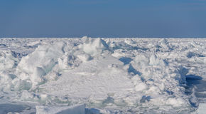 Frozen sea. Royalty Free Stock Images