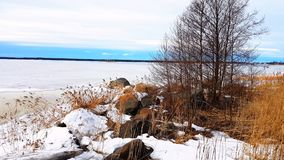 Frozen sea view. From vaasa Royalty Free Stock Image