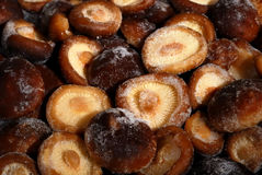 Frozen shiitake mushrooms Royalty Free Stock Images