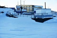 Frozen ship Stock Image
