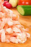 Frozen shrimp Stock Photography
