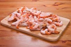 Frozen shrimps Stock Photos