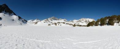 Frozen Sierra Mountain Lake Stock Photography