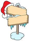 Frozen sign with cap Stock Photos