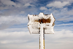 Frozen signs. Royalty Free Stock Photos