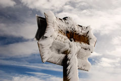 Frozen signs. Stock Image