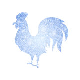 Frozen Silver Rooster Silhouette Royalty Free Stock Photo