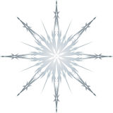 Frozen Single Snowflake Illustration Stock Photos