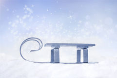 Frozen sledge Royalty Free Stock Images