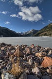 Frozen Smith and MoreHouse reservoir in Utah Royalty Free Stock Photography