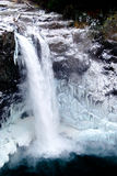 Frozen Waterfall with Icicles Stock Photo