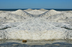 Frozen Snow Covered Waves Royalty Free Stock Images