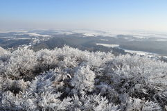 Frozen and snow landscape Stock Photos