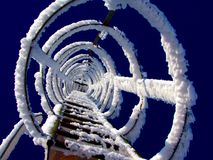 Frozen Snow Rings Royalty Free Stock Photo
