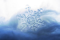 Frozen snowflake. 'under the ice' effect Stock Image