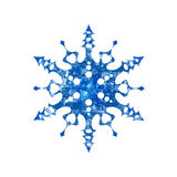 Frozen snowflake on white background Royalty Free Stock Images