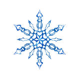 Frozen snowflake on white background Stock Photo