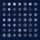 Frozen snowflakes Royalty Free Stock Image