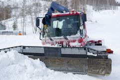 Frozen Snowplow Royalty Free Stock Photo