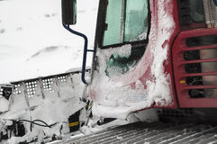 Frozen snowplow in snow blizzard Royalty Free Stock Photos