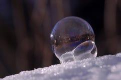 Frozen soap bubble - close up stock photography