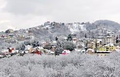 Frozen Sochi, winter landscape stock images