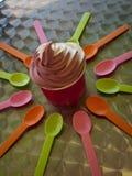 Frozen Soft Serve Yogurt. Stock Photos