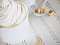 Frozen Soft Serve Yogurt. Royalty Free Stock Image