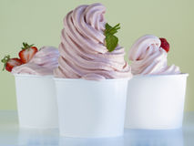 Frozen Soft Serve Yogurt. Royalty Free Stock Photo