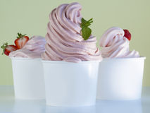 Frozen Soft Serve Yogurt. Stock Photos