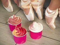 Frozen Soft Serve Yogurt. Stock Images