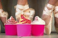 Frozen Soft Serve Yogurt. Royalty Free Stock Photography