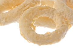 Frozen Squid Rings Tempura Isolated Royalty Free Stock Photography