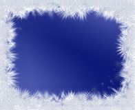 Frozen stars frame on blue background Stock Photo