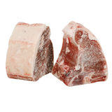 Frozen steaks. Two thick cut frozen steaks Royalty Free Stock Photos