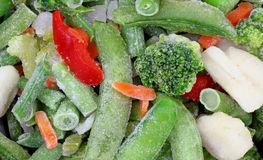 Frozen Stir Fry Vegetables Close View Royalty Free Stock Images