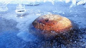 Frozen Stone Royalty Free Stock Images