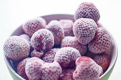 Frozen Strawberries Royalty Free Stock Photos